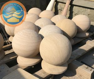 Yellow Sandstone Ball for Landscape