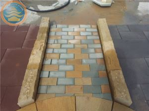 Yellow Sandstone Curb...